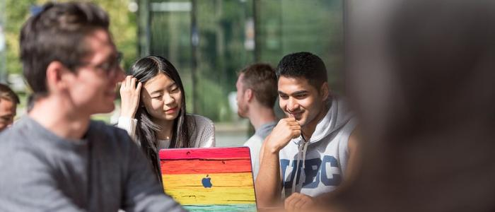 Students representing diversity