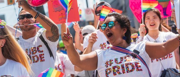 Pride parade UBC