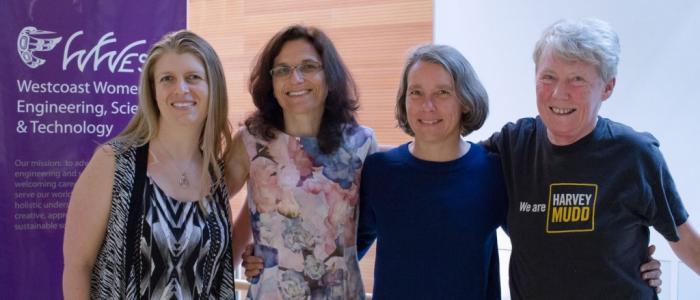 (L - R) Lesley Shannon, Elizabeth Croft, Anne Condon, Maria Klawe
