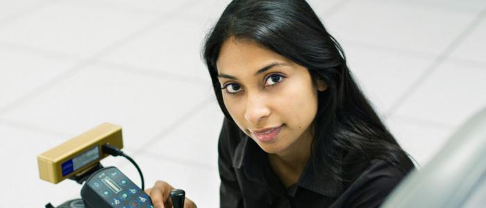 Poojav Viswanathan, Ph.D. Candidate in Artificial Intelligence (photo by Martin Dee, Public Affairs)