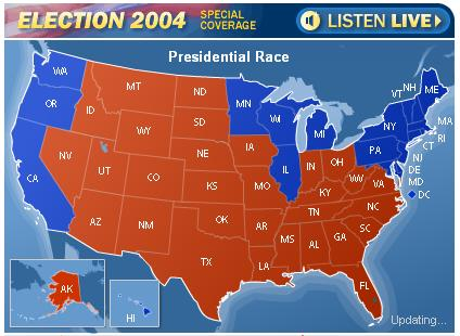 Source Npr Election Night 2004 Http Www Npr Org Index Election2004special Html